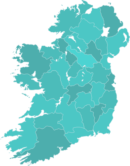 Regional Map Of Ireland.Centres Accord Ireland